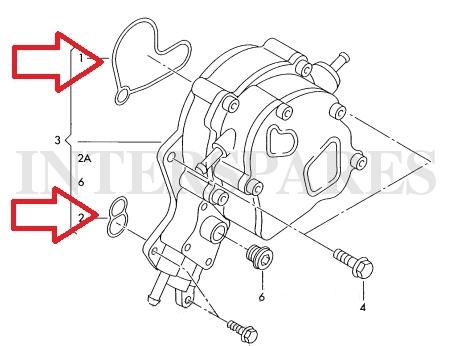 AUDI/VW/SKODA/SEAT fuel vacuum pump/tandem pump seals kit/gasket kit