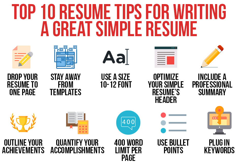 Modern Resume Tips Top 10 Tips For Writing A Great Resume In 2019