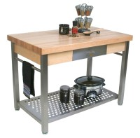 John Boos Cucina Grande Maple & Steel Work Table