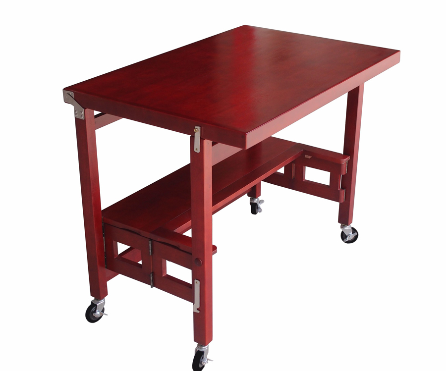 Folding Kitchen Island Work Table Oasis Concepts Space-saving Folding Furniture