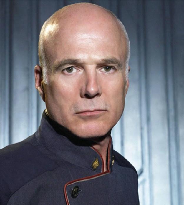Michael Hogan As Captain Robert April