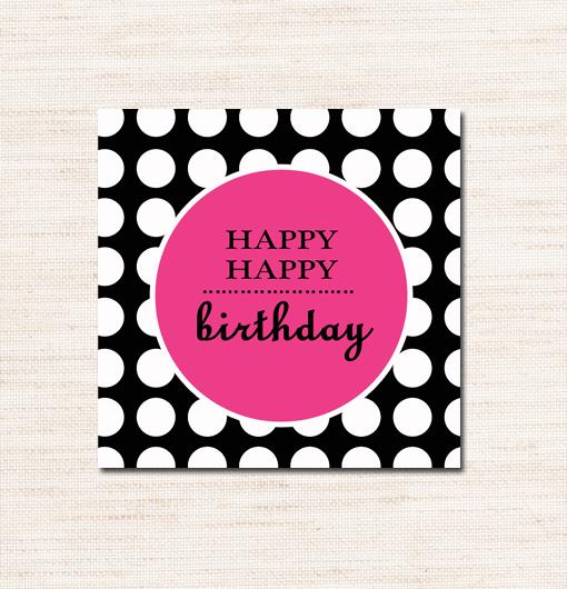 Pink Black White Happy Birthday 2\