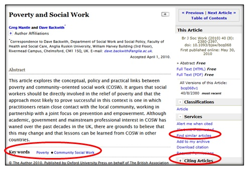 Poverty and social work (Q1) - Reasons for Social Work SOAD1008