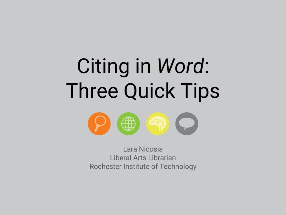 Citation Style Guides - Citation Guides and Tools - InfoGuides at