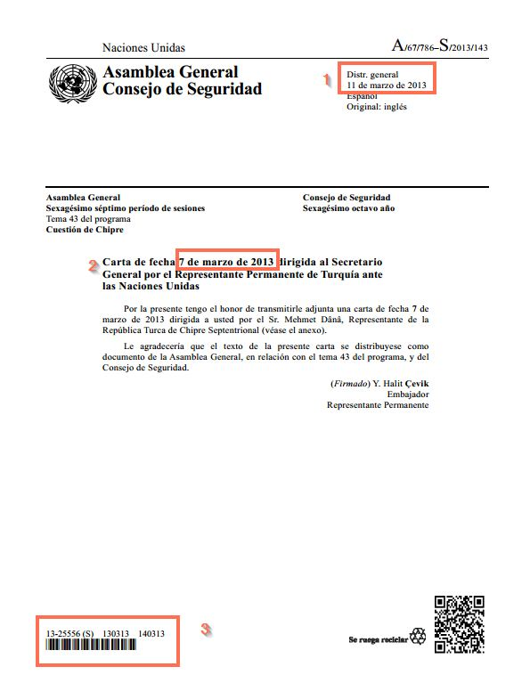 Cartas - Documentación de la ONU  Sinopsis - Research Guides at