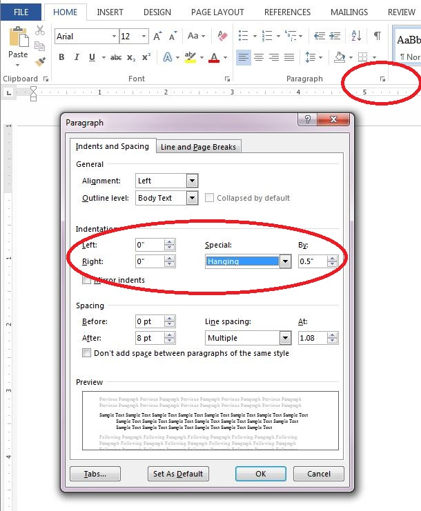 Formatting in Microsoft Word - Citing Your Sources - APA Style
