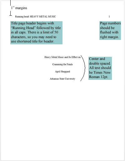 APA - Citation Style Guide - LibGuides at Dean B Ellis Library - running title scientific paper