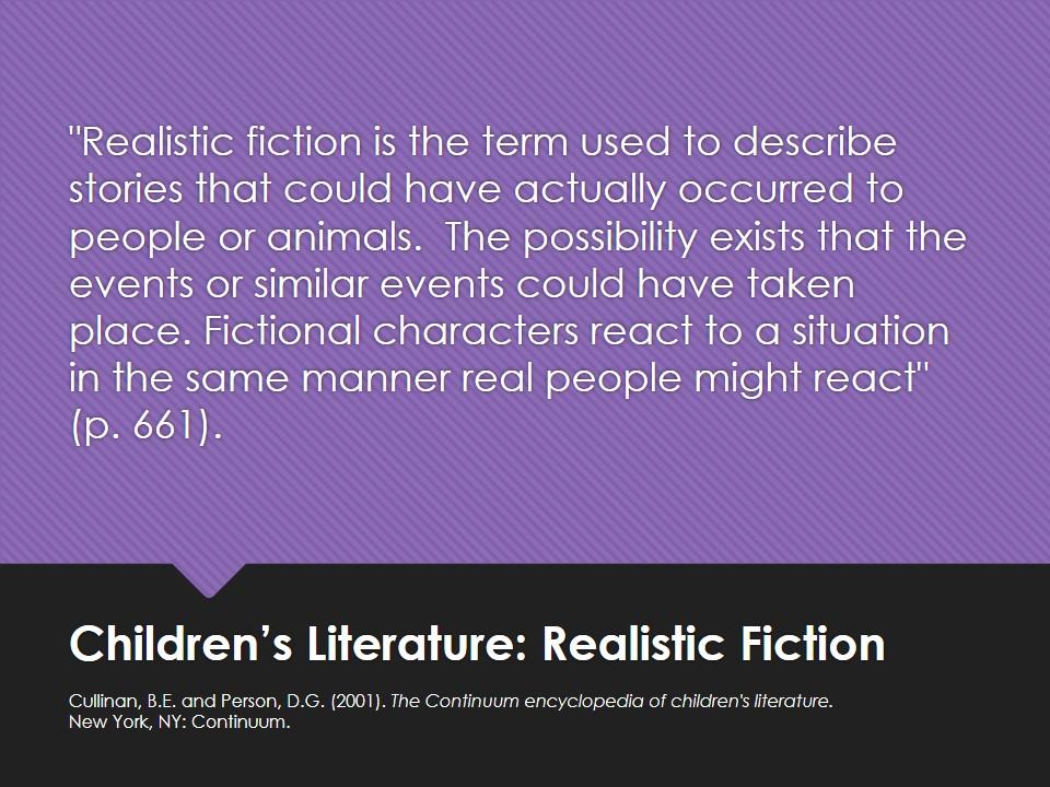 Realistic Fiction - Children\u0027s Literature Genres - LibGuides at