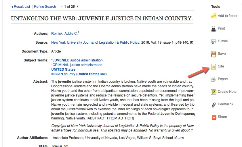 Citing Your Sources - CJ 100 Introduction to Criminal Justice