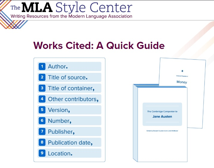 MLA Citation Guidelines - Mohave Community College Libraries