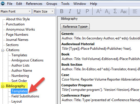 Editing an EndNote Output Style - EndNote X8 - Research Guides at UT - work cited layout