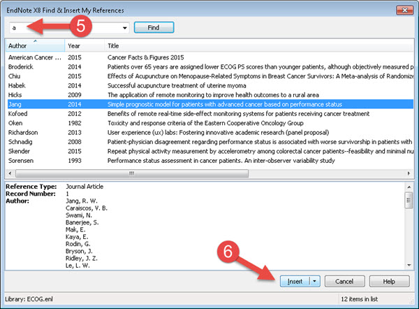 Insert  Delete References in Word - EndNote X8 - Research Guides at