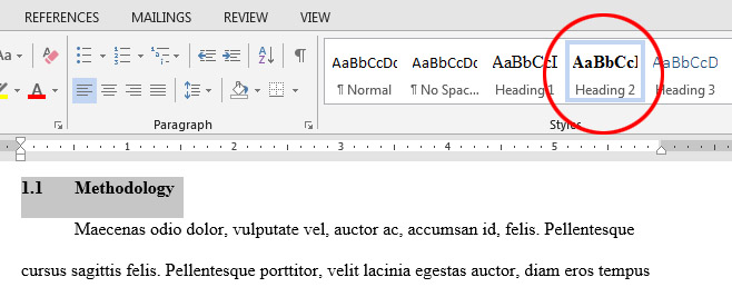 How do I create an automatic Table of Contents in Word 2013? - Ask A