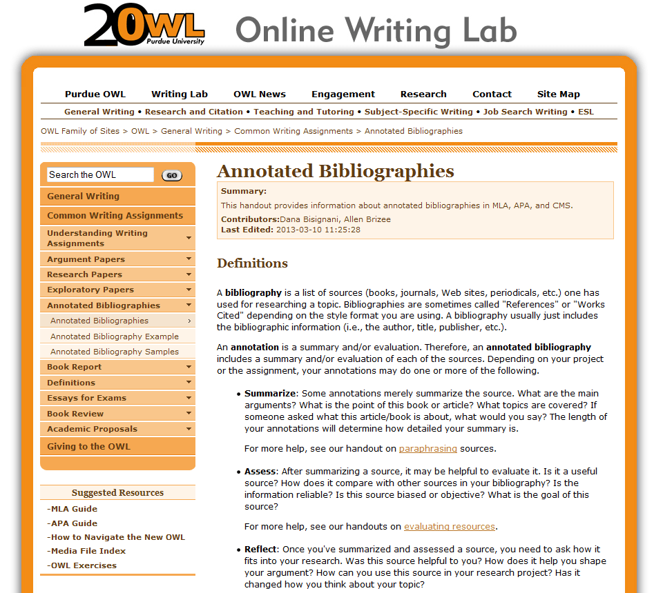 purdue owl apa thesis The online writing lab (owl) at purdue university houses writing resources and instructional material, and we provide these as a free service of.