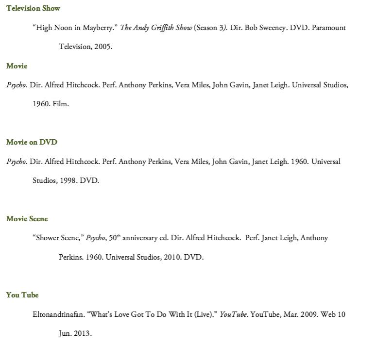 examples of mla citation