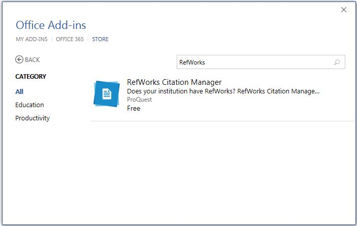 Using RefWorks with Microsoft Word - Choose Your RefWorks Version