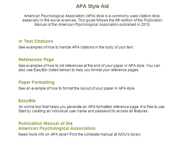 APA  MLA Citations - College of Professional  Continuing Studies - mla source format