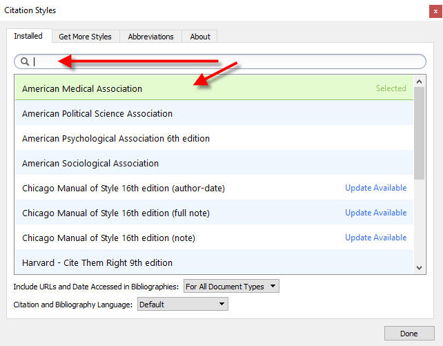 Inserting Citations In to Word - Mendeley Citation Manager