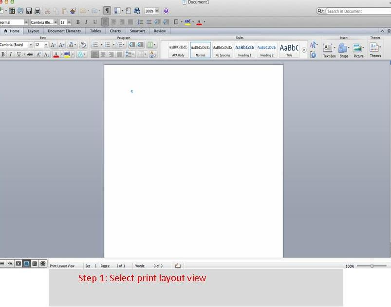 Q How do I format my paper in APA style using Microsoft Word 2011