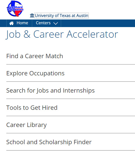 Career Options - Career Research Tools - LibGuides at University of - leading job search sites
