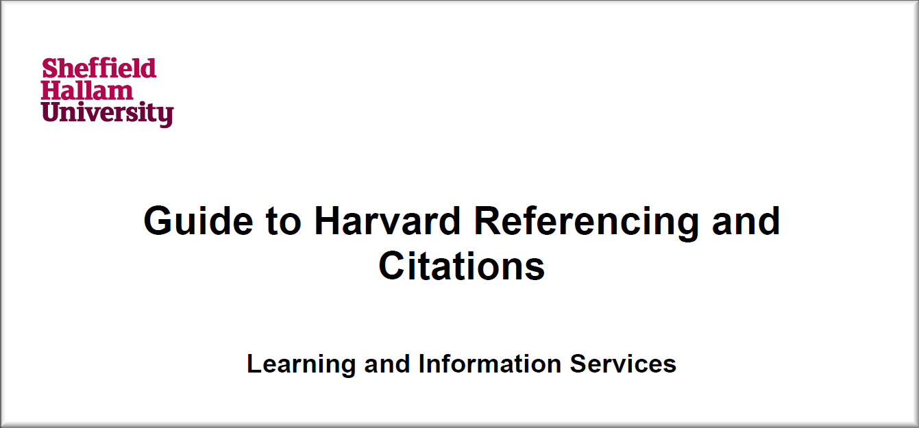 Harvard referencing essay example