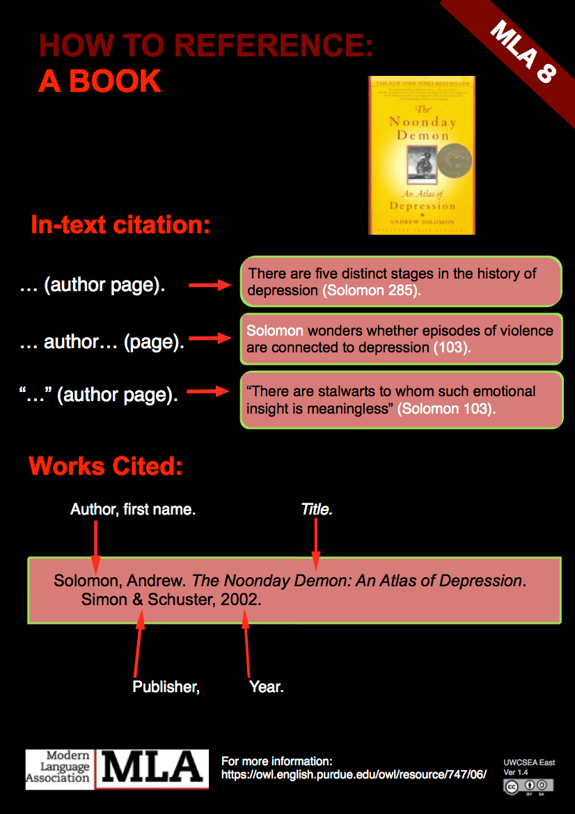 book citation mla