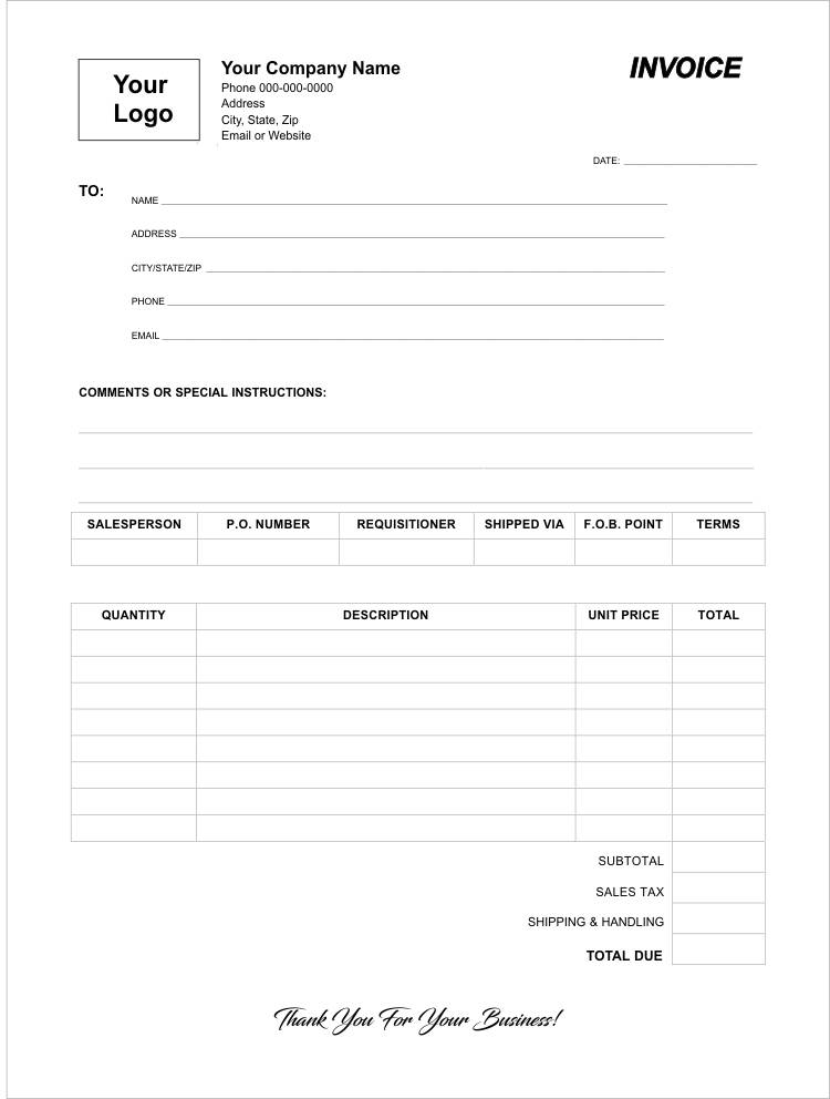 Carbonless Invoice Template Forms Create A Custom Invoice - invoice templates