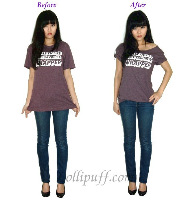Ugly to Cute and Trendy T Shirt Transformation Lollipuff