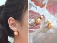 Trend Review: Double Pearl Stud Earrings | Lollipuff