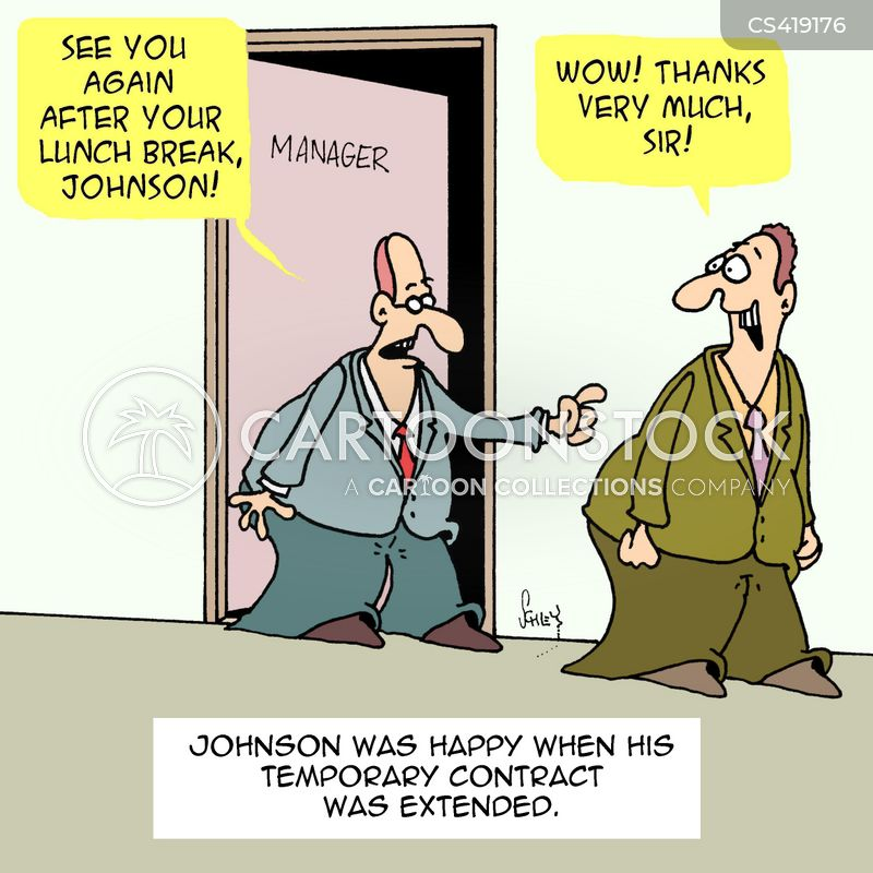 Temp Contract Cartoons and Comics - funny pictures from CartoonStock - temporary employment contract