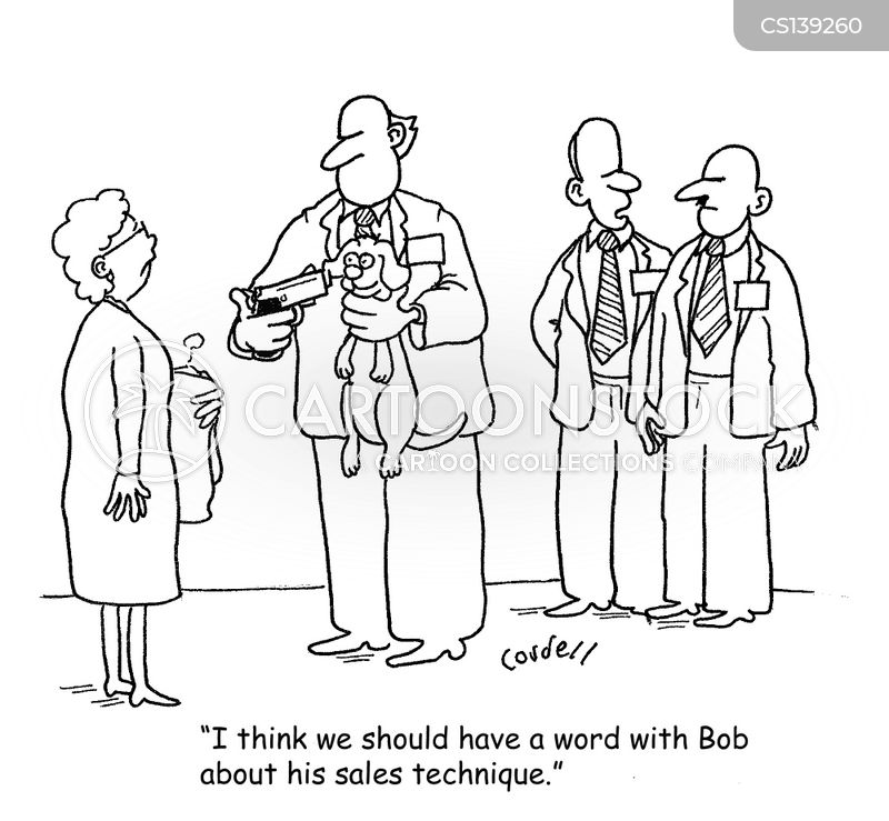 Sales Skills Cartoons and Comics - funny pictures from CartoonStock
