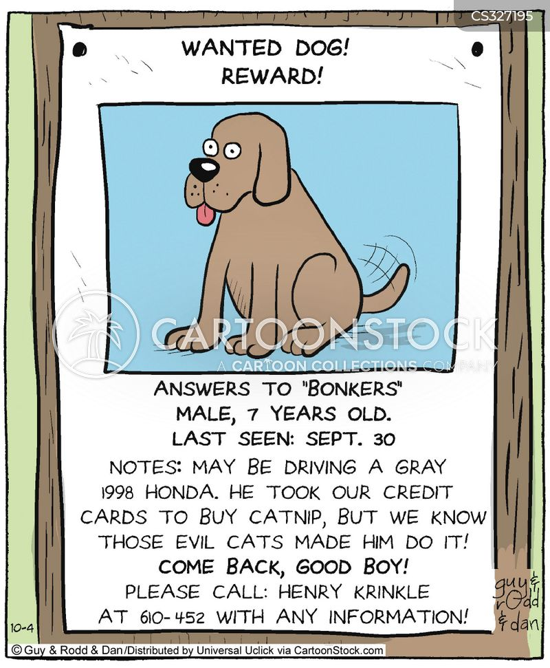 Pet Missing Cartoons and Comics - funny pictures from CartoonStock - funny missing person poster