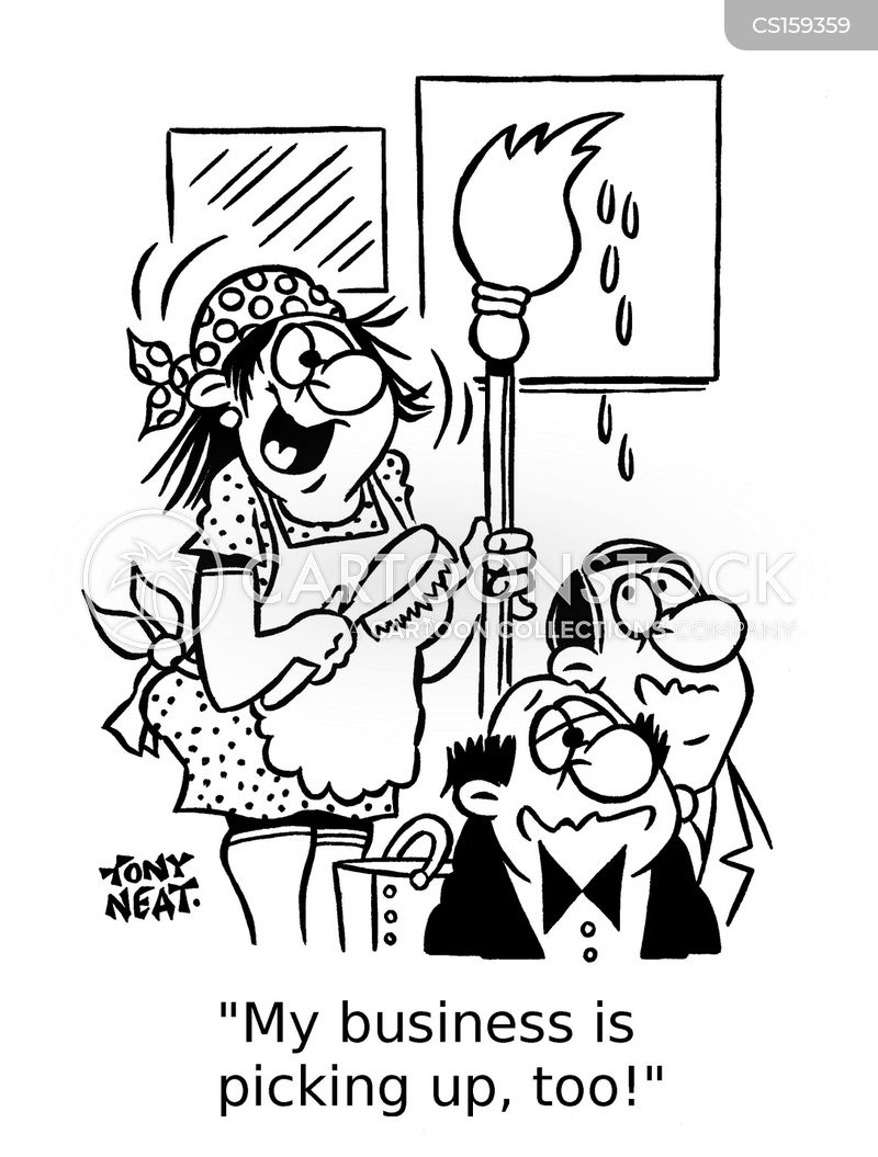 Cleaning Ladies Cartoons and Comics - funny pictures from CartoonStock