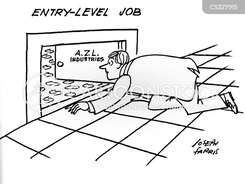 Entry-level Jobs Cartoons and Comics - funny pictures from CartoonStock