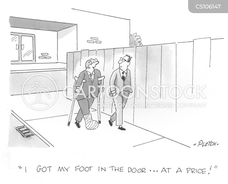 Foot In The Door Cartoons and Comics - funny pictures from CartoonStock
