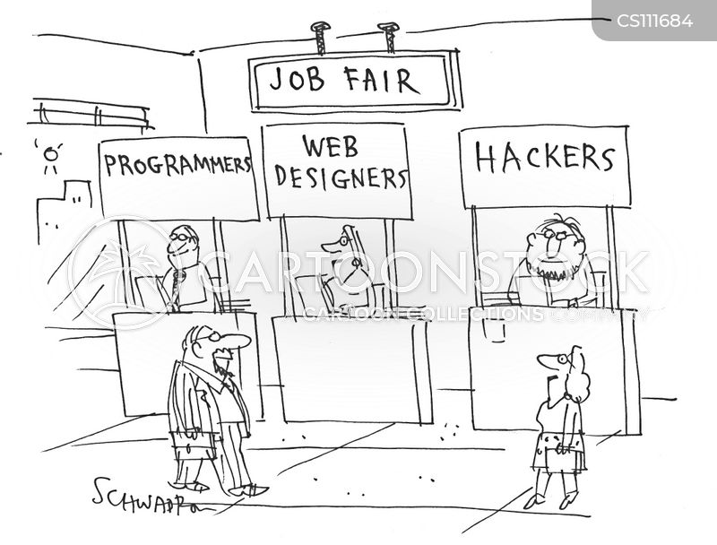 Careers Fairs Cartoons and Comics - funny pictures from CartoonStock - life career