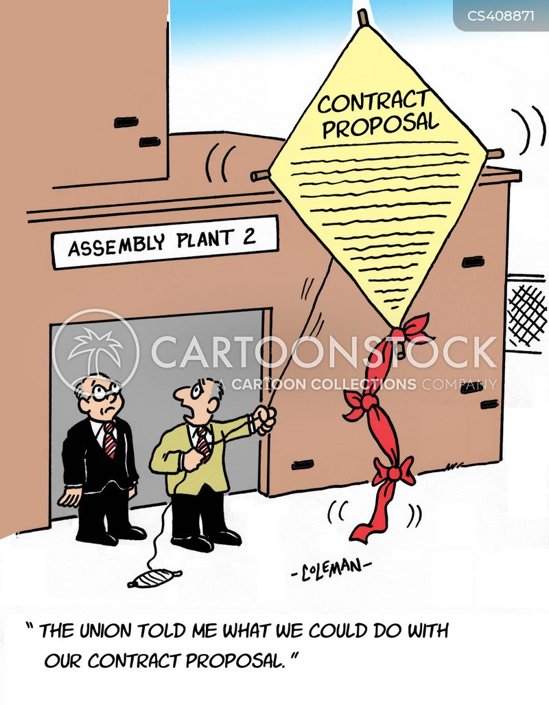 Contract Proposals Cartoons and Comics - funny pictures from