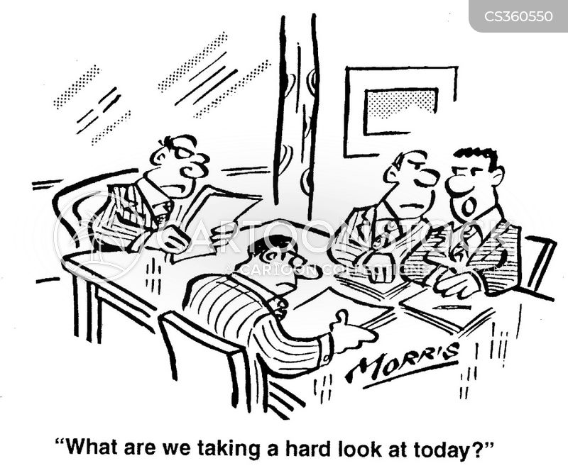 Business Agenda Cartoons and Comics - funny pictures from CartoonStock