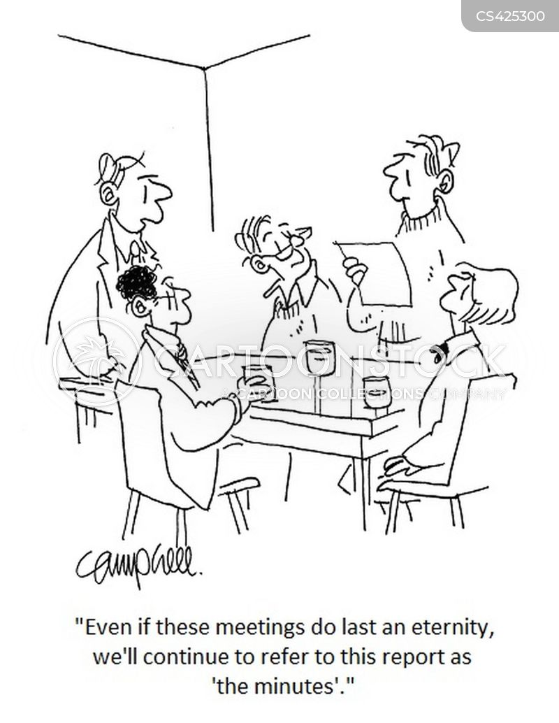 Meeting Minutes Cartoons and Comics - funny pictures from CartoonStock