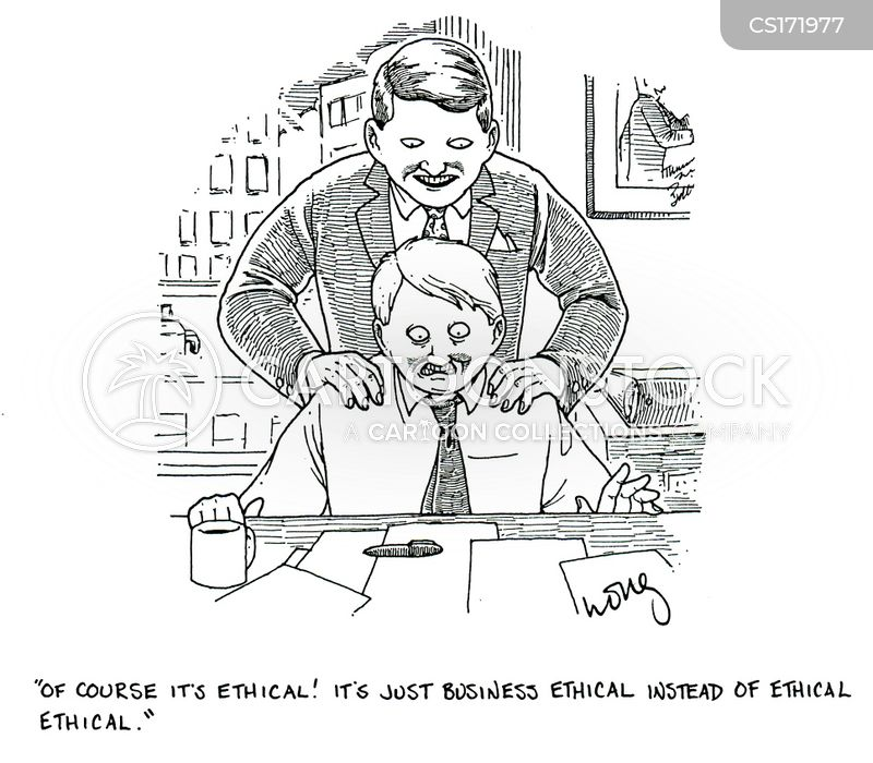 Moral Compromise Cartoons and Comics - funny pictures from CartoonStock