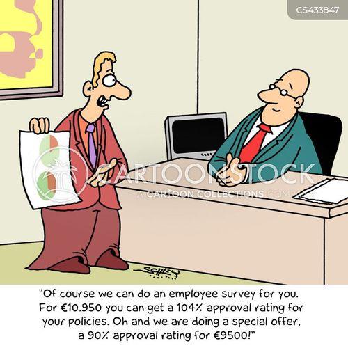 Employee Survey Cartoons and Comics - funny pictures from CartoonStock - employee survey
