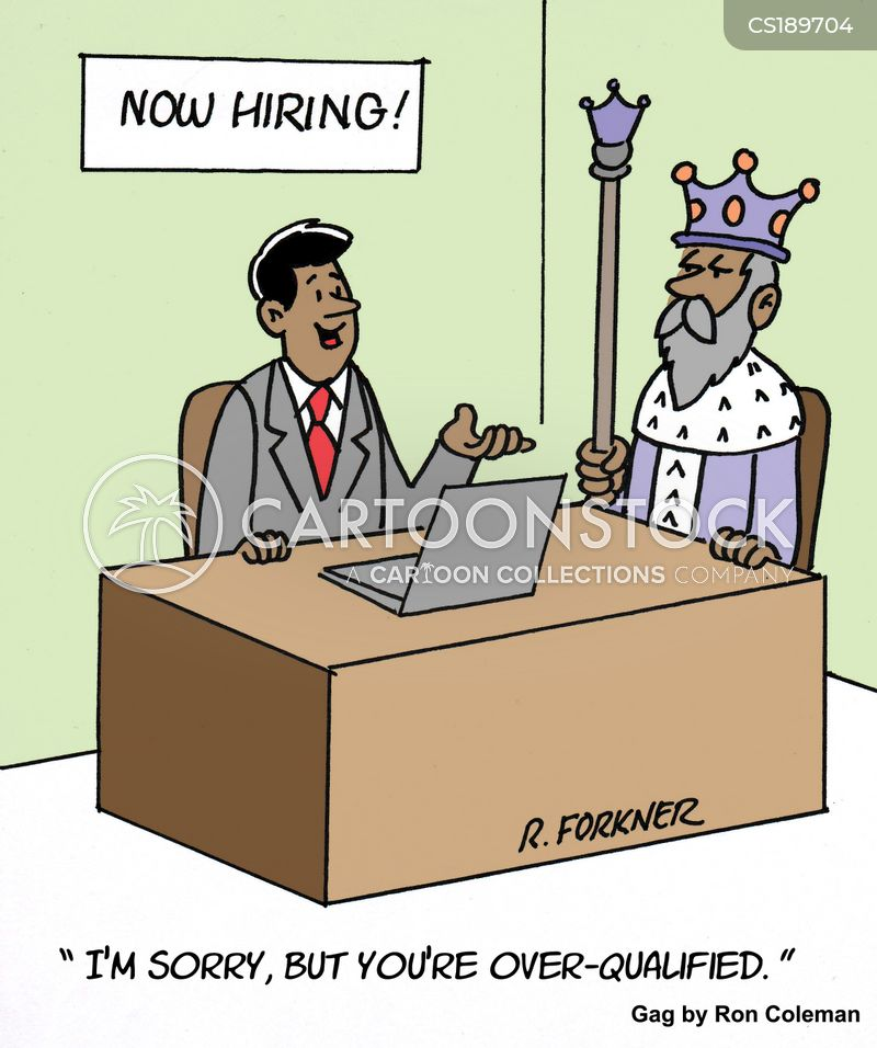 Over Qualified Cartoons and Comics - funny pictures from CartoonStock - overqualified for the job