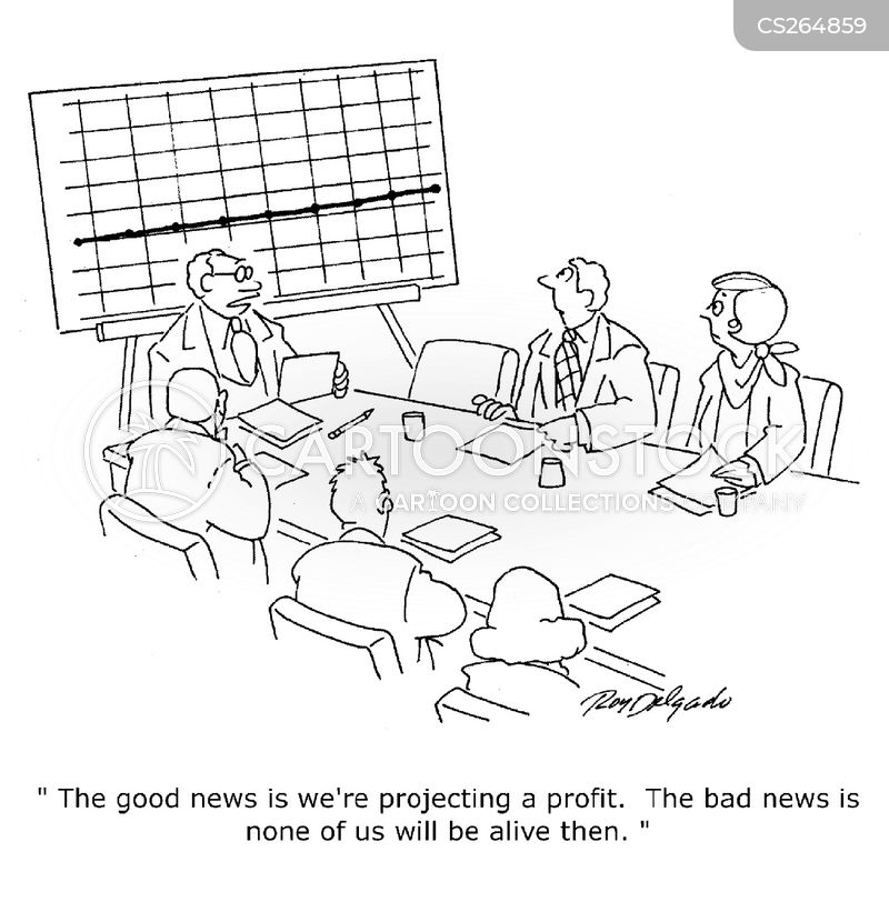 Profit Projection Cartoons and Comics - funny pictures from CartoonStock