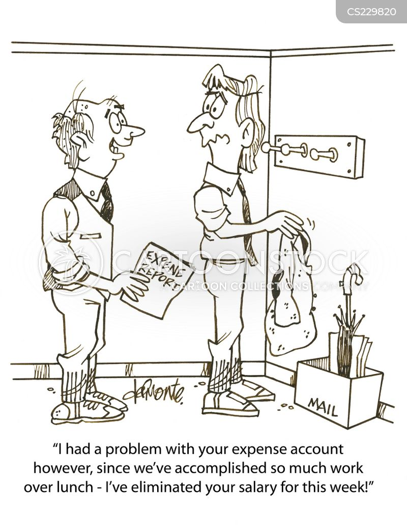 Expense Reports Cartoons and Comics - funny pictures from CartoonStock