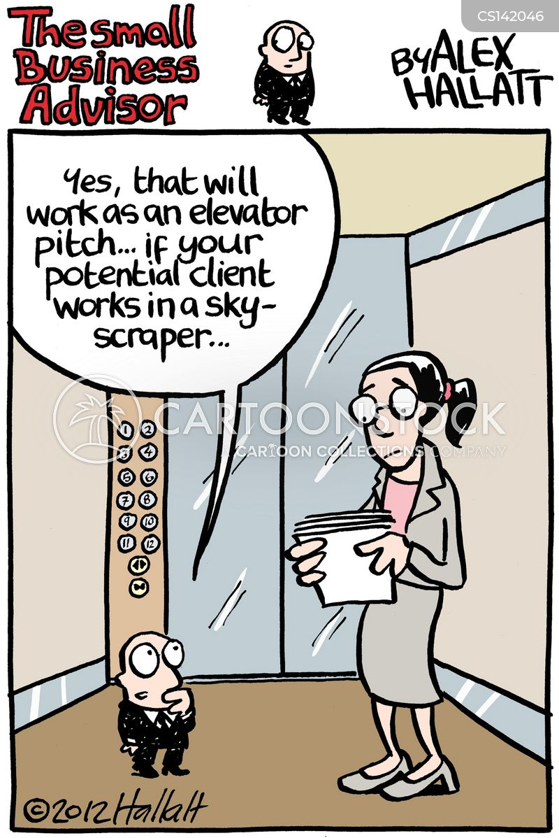 Elevator Pitch Cartoons and Comics - funny pictures from CartoonStock