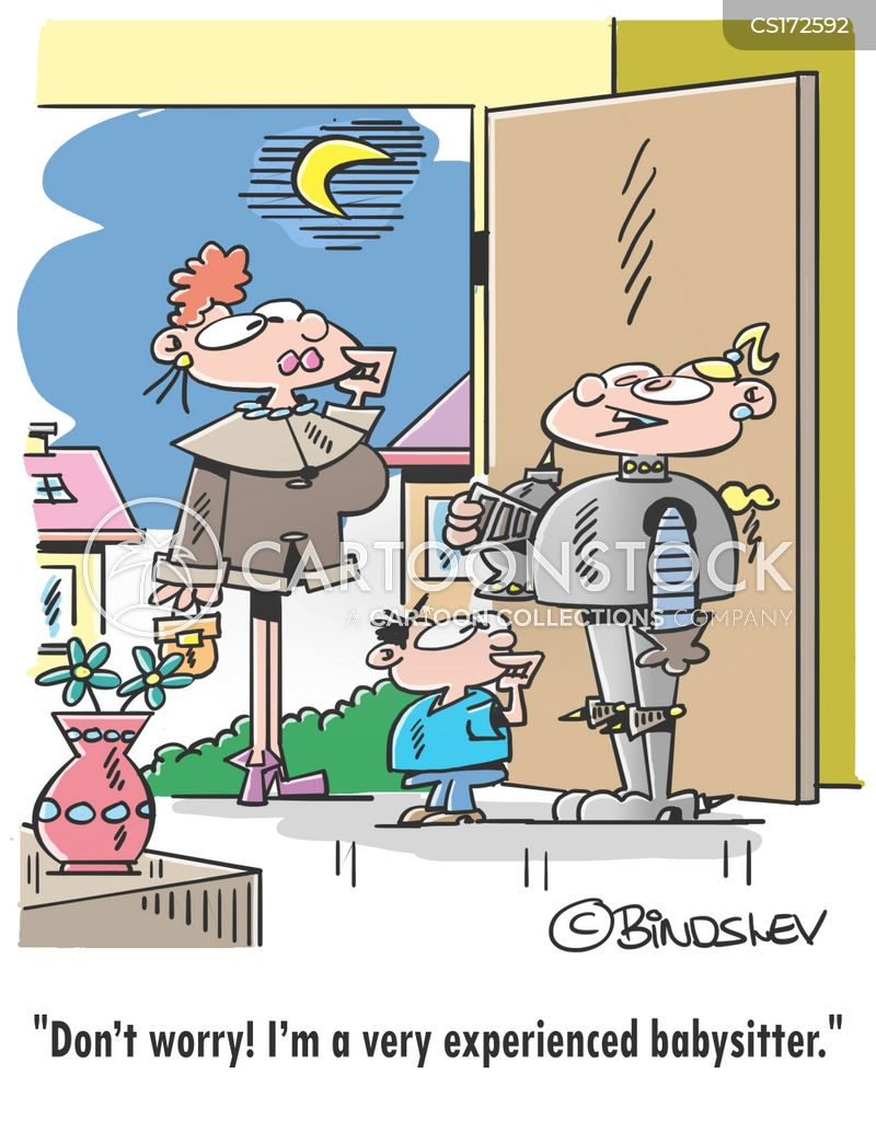 Baby-sitting Cartoons and Comics - funny pictures from CartoonStock