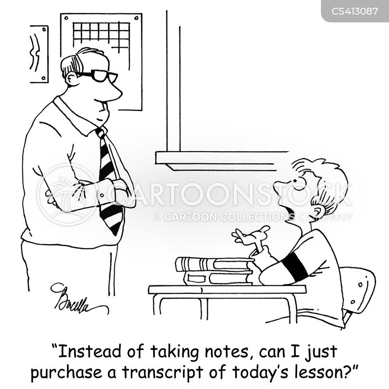 Note-taker Cartoons and Comics - funny pictures from CartoonStock