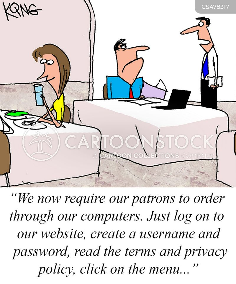Online Menus Cartoons and Comics - funny pictures from CartoonStock