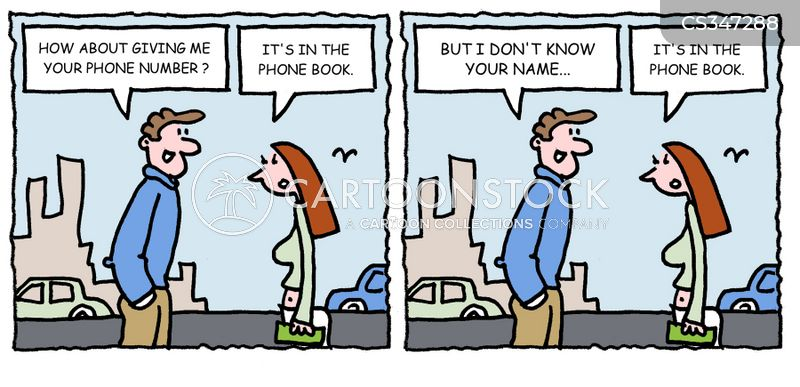 Phone Book Cartoons and Comics - funny pictures from CartoonStock