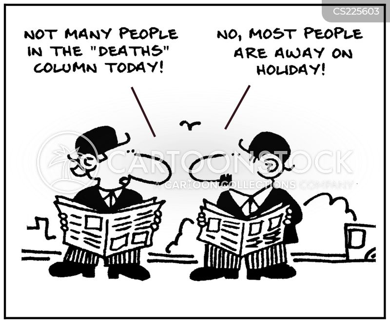 Obituary Sections Cartoons and Comics - funny pictures from CartoonStock
